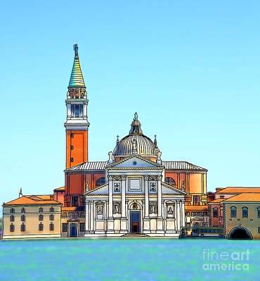 Architectur Digital Art - San Giorgio Maggiore, Venice by Phil Robinson