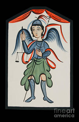 Painting - San Miguel Arcangel - St. Michael Archangel - Aomch by Br Arturo Olivas OFS