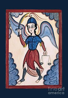 Painting - San Miguel Arcangel - St. Michael Archangel - Aomta by Br Arturo Olivas OFS