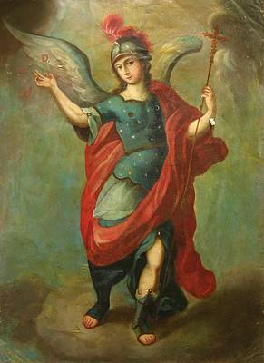 Devotional Painting - San Miguel Arcangel by Unknown