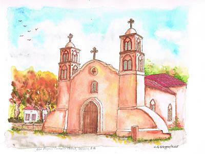 San Miguel Catholic Church, Socorro, New Mexico Art Print by Carlos G Groppa