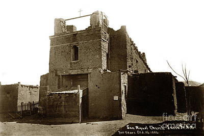 Photograph - San Miguel Church, Santa Fe, New Mexico by California Views Archives Mr Pat Hathaway Archives