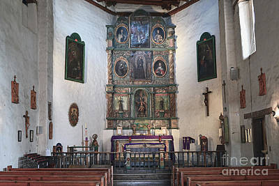 Photograph - San Miguel Mission Altar by Catherine Sherman