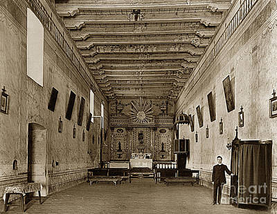 Photograph - San Miguel Mission California Circa 1915 by California Views Mr Pat Hathaway Archives