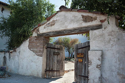 Photograph - San Miguel Mission Cemetery by Suzanne Gaff