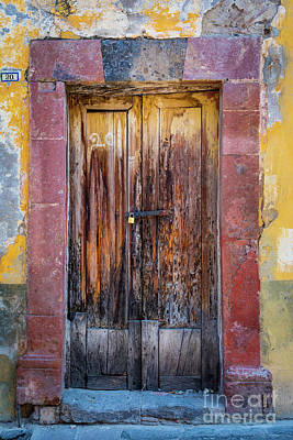 Photograph - San Miguel Old Door by Inge Johnsson