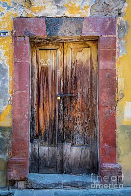 San Miguel Old Door Art Print