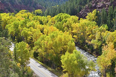 Photograph - San Miguel River And Highway 145 by Ray Mathis