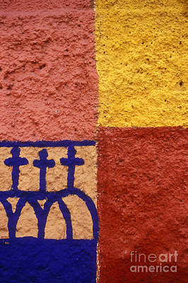 Art Print featuring the photograph San Miguel Wall San Miguel De Allende Mexico by John  Mitchell