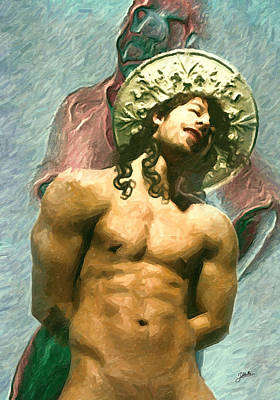 Atheist Painting - San Narciso by Joaquin Abella