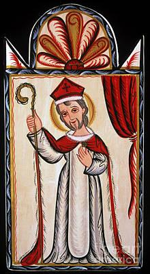 St Nicholas Icon Painting - San Nicolas - St. Nicholas - Aosni by Br Arturo Olivas OFS