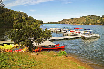 Photograph - San Pablo Dam Reservoir Boat Rentals by Joyce Dickens