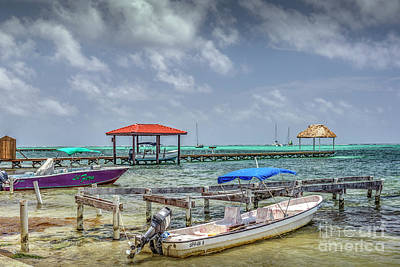 Photograph - San Pedro Belize C.a. 14 by David Zanzinger
