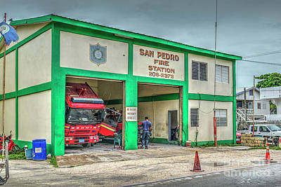 Photograph - San Pedro Belize Fire House by David Zanzinger