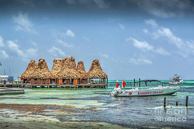 Photograph - San Pedro Belize Palapa Huts by David Zanzinger