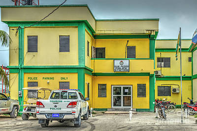 Photograph - San Pedro Belize Police Station by David Zanzinger