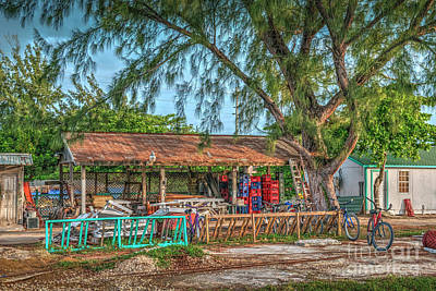 British Honduras Photograph - San Pedro Belize Work Shed by David Zanzinger