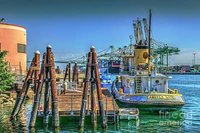Photograph - San Pedro Busy Port  by David Zanzinger