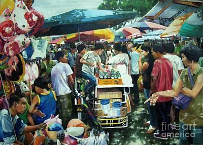 Philippine Art Painting - San Pedro Market Scene by Bong Perez