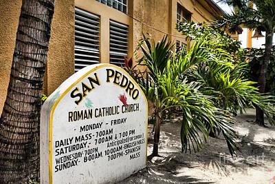 Photograph - San Pedro Roman Catholic Church by Lawrence Burry