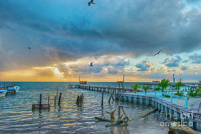 Photograph - Stormy Sky Waiting For Sunrise by David Zanzinger
