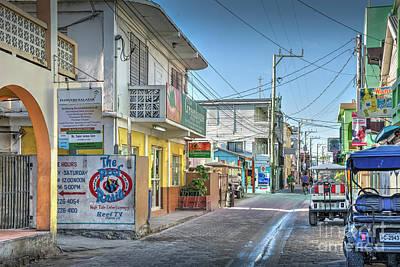Photograph - San Pedro Town Belize  by David Zanzinger