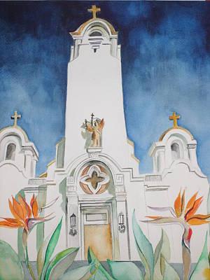 Mission San Rafael Painting - San Rafael Arcangel Mission by Susan Wester Perez