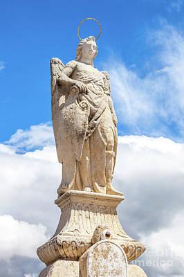 San Rafael Archangel Statue Art Print