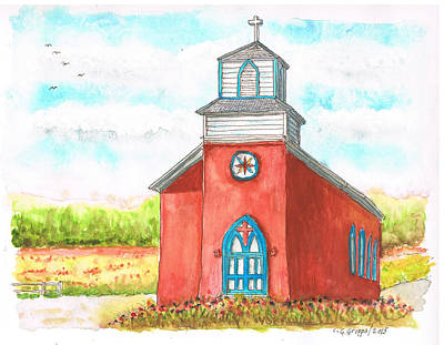 San Rafael Church In La Cueva, New Mexico Original by Carlos G Groppa