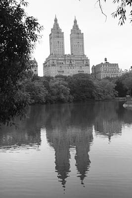 San Remo Reflection On The Lake Art Print by Christopher Kirby