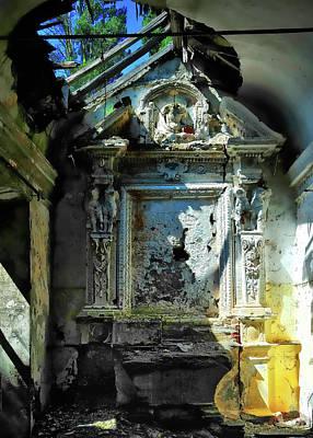 Photograph - San Rocco Chapel Ruins - Cappella San Rocco Rovine by Enrico Pelos