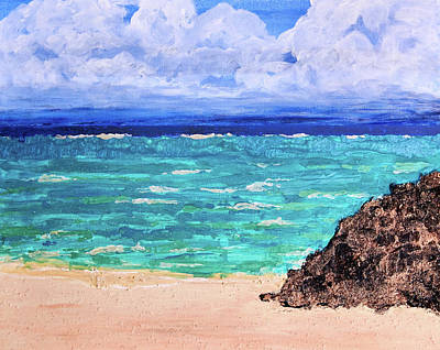 Painting - San Salvador Sands by Patricia Beebe