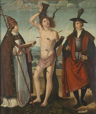 San Juan Painting - San Sebastian And San Tirso by San Gregorio