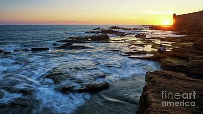 Photograph - San Sebastian Castle Sunset Cadiz Spain by Pablo Avanzini