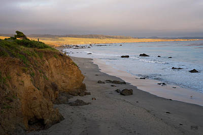 San Simeon Coastal II Color Art Print by David Gordon