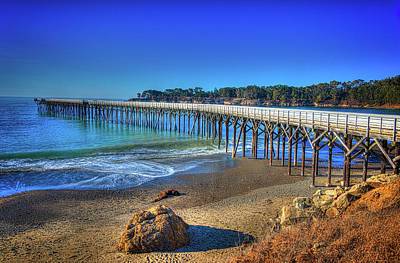 Photograph - San Simeon Pier California Coast by James Hammond