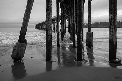 Photograph - San Simeon Pier I Bw by David Gordon
