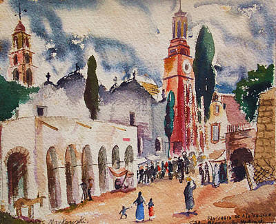 San Tuario De Atotonoleco Art Print by Bill Joseph  Markowski
