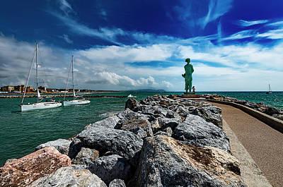 Photograph - San Vincenzo Molo Del Marinaio - Mariner Pier by Enrico Pelos