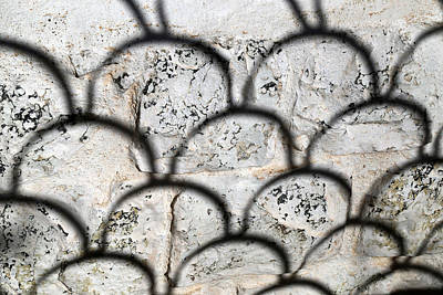 Photograph - San Xaver Fence Shadow by Mary Bedy