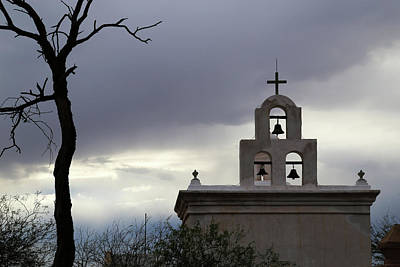 Photograph - San Xavier Bell Tower 5 by Mary Bedy