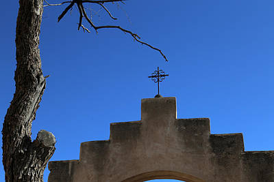 Photograph - San Xavier Cross Arch And Tree by Mary Bedy