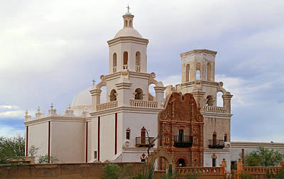 Photograph - San Xavier Del Bac At Dusk by Mary Bedy