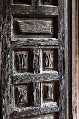 Photograph - San Xavier Door Detail by Mary Bedy