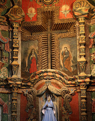 Photograph - San Xavier Interior 2 by Mary Bedy