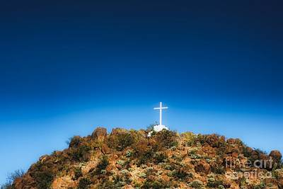 Tucson Az Cross Photograph - San Xavier Mission Pt. II by Berta Keeney