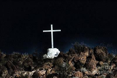 Tucson Az Cross Photograph - San Xavier Mission Pt. IIi by Berta Keeney