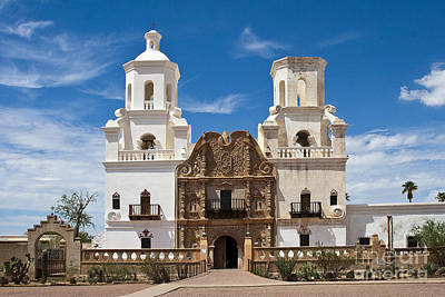 Photograph - San Xavier Mission by Tim Hightower