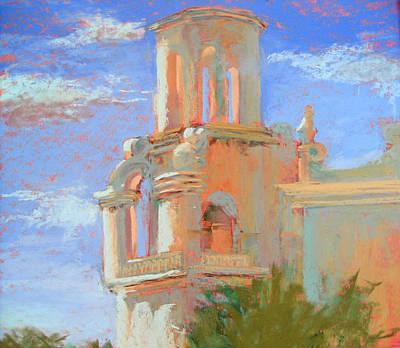San Xavier Mission Tucson Print by Sandra Ortega