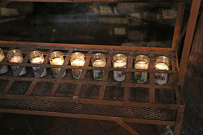 Photograph - San Xavier Votive Candles by Mary Bedy